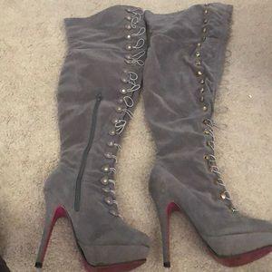 Thigh high heels